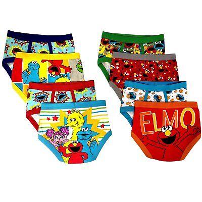 Sesame Street Elmo Boys Underwear 8-Pack Sizes 2T/3T, 4T, 4, 6, 8