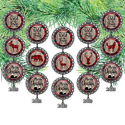 Bottle Cap Ornament /Lumberjack-Wild & Free/2018 Year Charm /Can be (Ornament Year Charm)