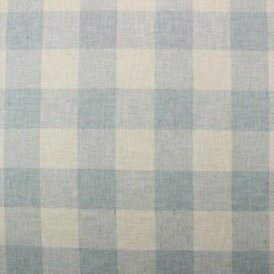 Ballard Designs Briella Check Lagoon Blue Off White Multiuse Fabric By Yard 54 W