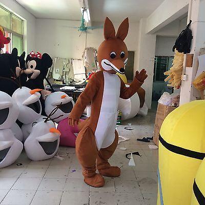 2017 Kangaroo Mascot Costume Parade Party Dress Australia Halloween Adult Outfit
