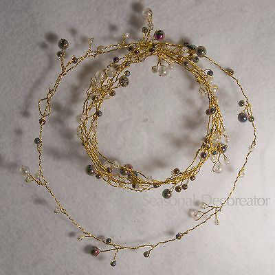 Mother Of Pearl 9 Foot Wired Bead Garland #51907882C01