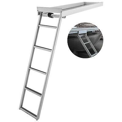 Aluminum Dock Ladder Boat Dock Ladder 5 Steps Pontoon Boat Ladder Dock Stairs