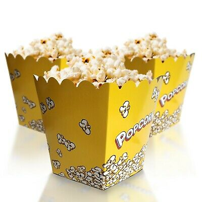 Small Movie Theater Paper Popcorn Boxes 6 Inches In Height Ebay