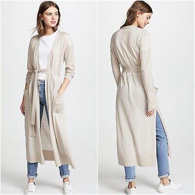 Le Kasha Delhi Wrap Cashmere Cardigan Long Belted Sweater Beige M/L Medium Large