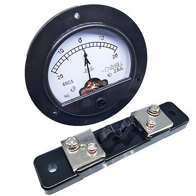 Us Stock Dc -20a 20a Analog Amp Current Needle Panel Meter Ammeter Shunt