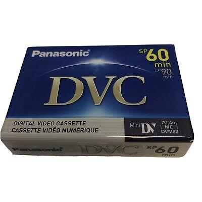 Panasonic DVC Digital Video Cassette AY-DVM60EJ Mini DV SP 60min LP 90min