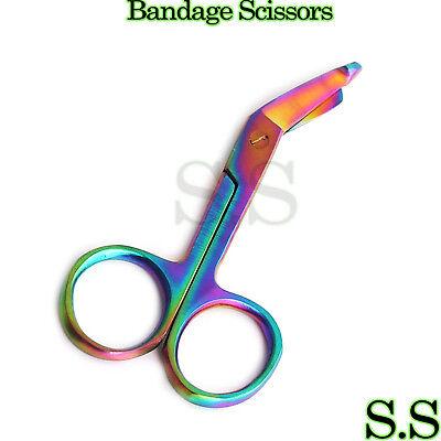Lister Bandage Scissors 3.5 Multi Color Rainbow Color Surgical Instruments