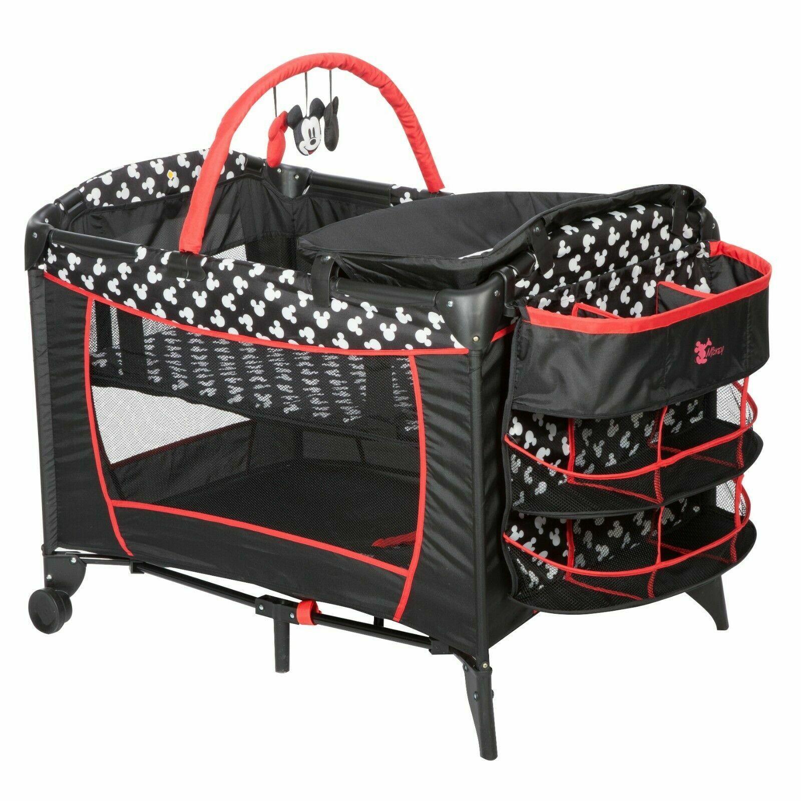 Folding Cot Infant Nursery Center Crib Playpen Playard Porta