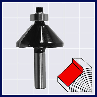 HM Fasenfräser Fasefräser mit Anlaufkugellager 45° D 35 mm Schaft 8 mm