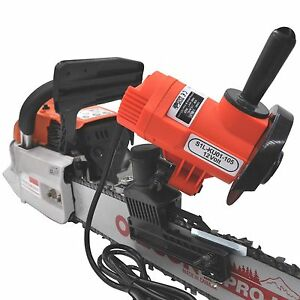 portable electric bar mounted chain file grinder 12 volt CHAINSAW SHARPENER