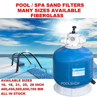 SWIMMING POOL SAND FILTER 21 INCH CT 500 FILTERS MULTI VALVE NEW