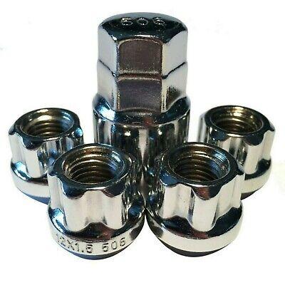LOCKING LUG NUTS WHEEL LOCKS OPEN END CHROME BULGE ACORN 12X1.5 FITS HONDA ACURA New Chrome Locking Lug Nuts