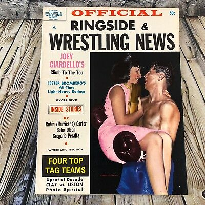 Ringside And Wrestling News Magazine July 1964 Joey Giardello Top Tag Teams