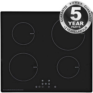 SIA 60cm Black Glass 13 Amp 4 Zone Touch Control Eco Friendly Induction Hob