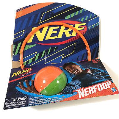Nerf Sports Nerfoop Basketball Toy Over the Door Indoor Hoops Green Orange New