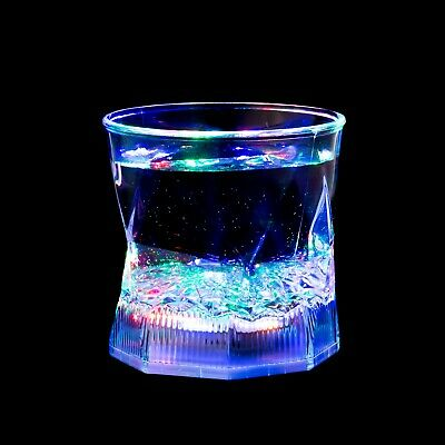 1 Flashing Water Activated LED Glass Glowing Liquid Tumbler Light Up Party Cup  - Plastic Party Glassware