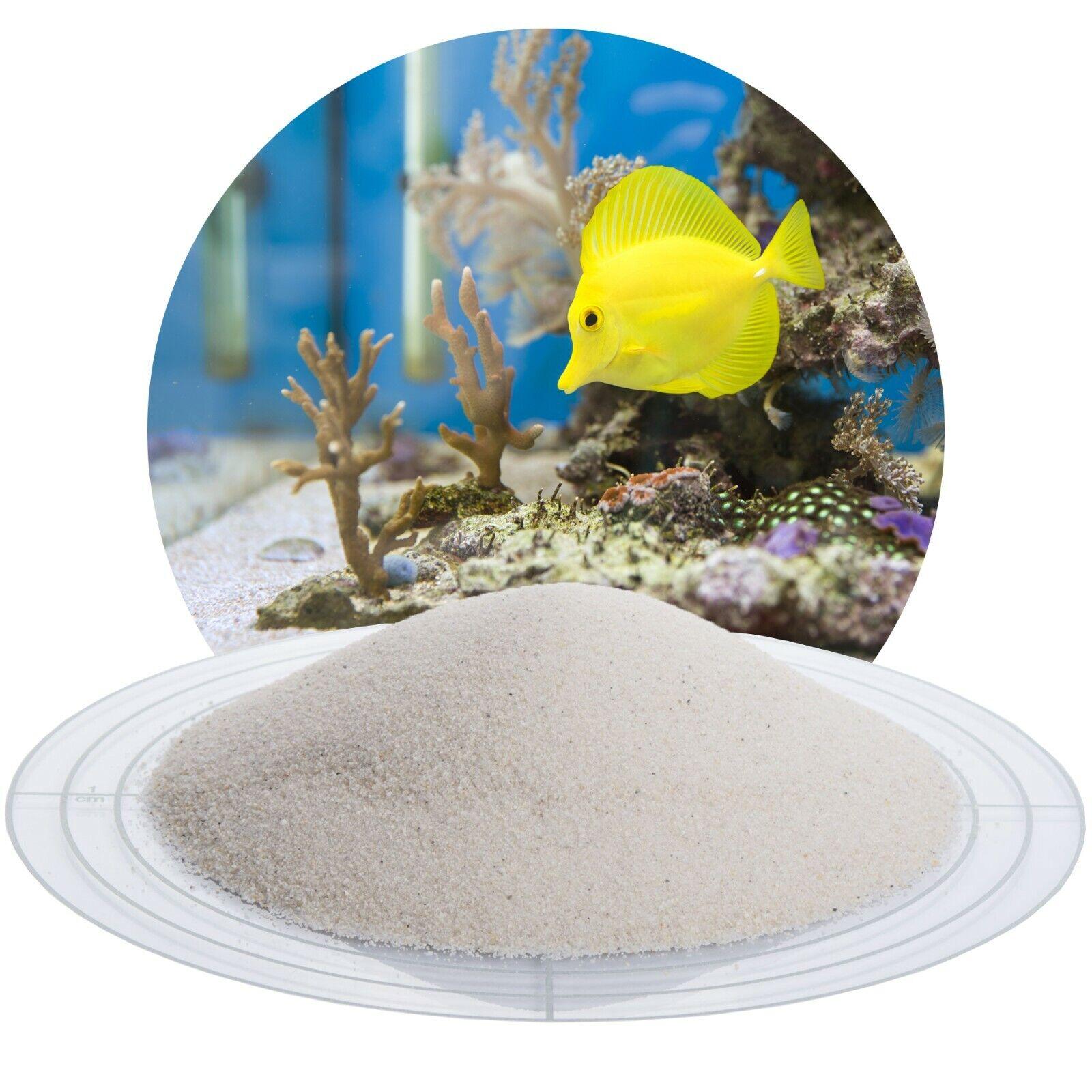 (0,64€/kg) 25 kg weißer Aquariumsand  Aquariensand Aquariumkies Bodengrund