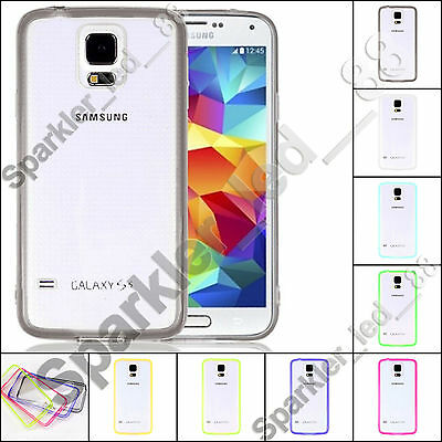 Samsung Galaxy S5 Thin Crystal Clear Transparent TPU Bumper Hard Case Cover
