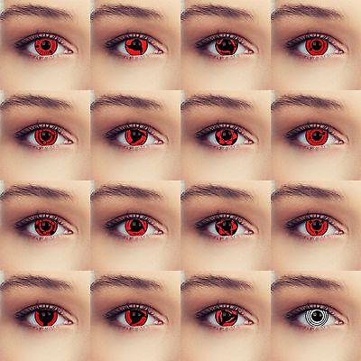 Rote Sharingan Naruto shippuuden Cosplay contacts lentilles lenti Kontaktlinsen