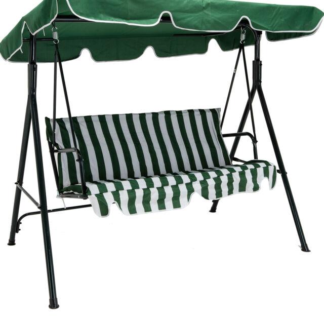 Green Outdoor 3 Seats Patio Canopy Swing Glider Hammock Backyard Porch  Furniture