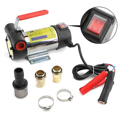 Portable 12v Dc Electric Fuel Transfer Pump Kerosene Oil Diesel Commercial Auto