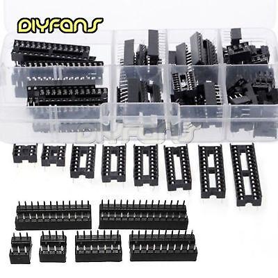 66Pcs/set DIP IC Steckdosen Adaptor Solder Socket Kit 6 8 14 16 18 20 24 28pin
