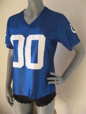 - NFL Team Apparel Womens Juniors Colts Replica Fan Jersey M Double Zero Cute NEW