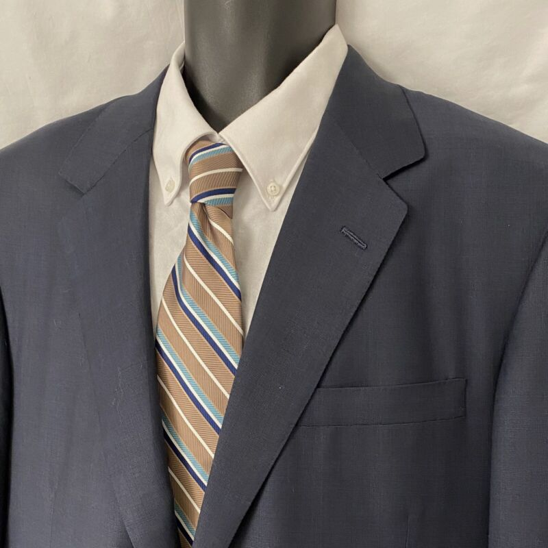 46R Mens OXXFORD CLOTHES Vintage Sport Coat Blazer Suit Jacket Dark Gray