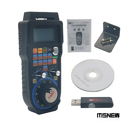 Cnc Mach3 Wireless Electronic Handwheel 6-axis Manual Controller Usb Mpg Us