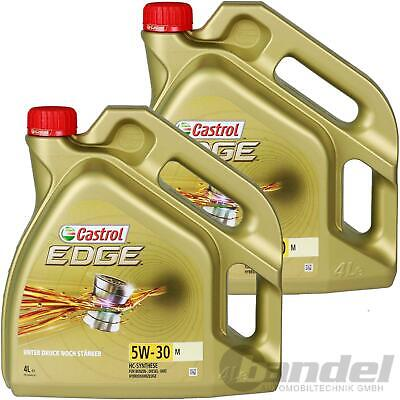 2x 4L CASTROL EDGE TITANIUM 5W-30 M BMW LONGLIFE 04 MERCEDES 229.51 229.52