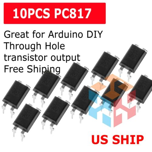 US Stock 10 pcs PC817 EL817C LTV817 PC817-1 DIP-4 OPTOCOUPLER