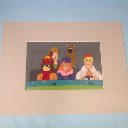 Scooby Doo Production Cel With Gang in Mystery Machine 5 Cel Setup Sc. 7- 1970