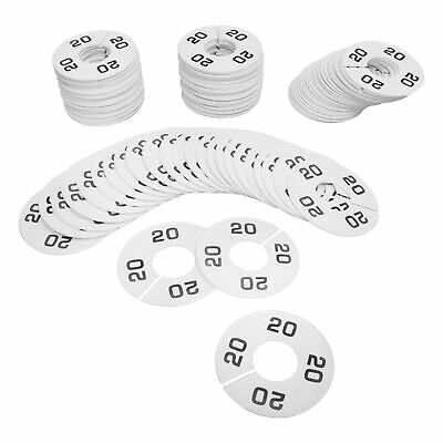 Hangers Retail Clothing Rack 3-12 Round Plastic Size 20 Dividers 10 Pcs White