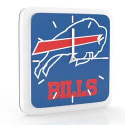 New 3 in 1 NFL Buffalo Bills Home Office Decor Wall Desk Magnet Clock 6 inches