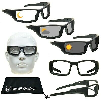 TRANSITION Motorcycle Sunglasses Photochromic DAY NIGHT Wind Resistant (Photochromic Motorcycle Sunglasses)