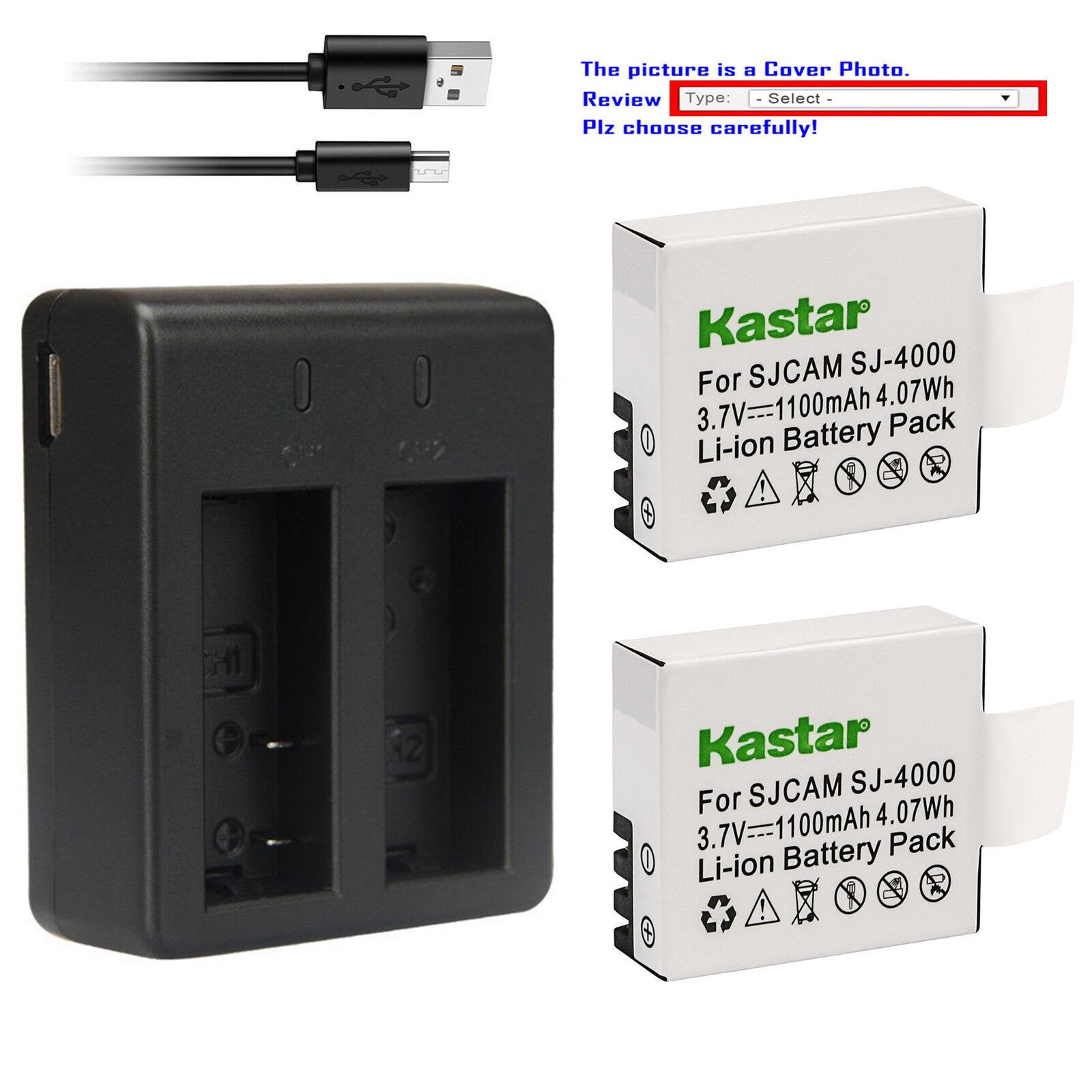 Kastar Battery Charger for SJ4000 SJ5000 SJ6000 SJ7000 SJ800