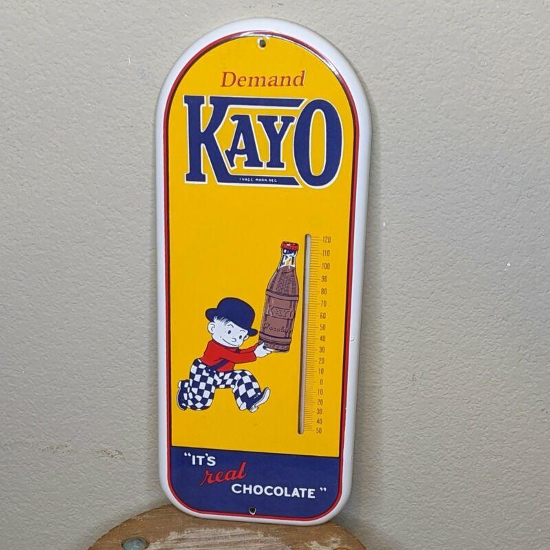 Antique Kayo Chocolate Drink Porcelain Soda Thermometer circa 1950