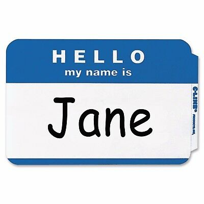 25 - Blue Hello My Name Is Name Badges - Tags Labels Id Stickers Peel Stick