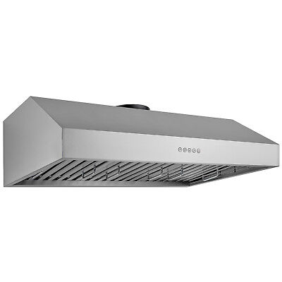 "30"" Under Cabinet Stainless Steel Range Hood Push Button Baffle Filters Modern"