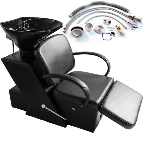 Ceramic Sink Backwash Bowl Barber Chair Unit Spa Salon Ad...