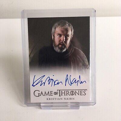 Game of Thrones Kristian Nairn Hodor Autograph Trading Card Season 1