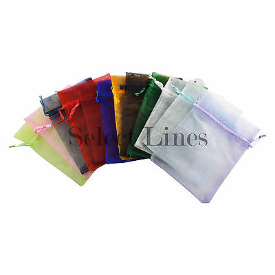 12pc Organza Mixed Colors Jewelry Pouch Pouches 4 X 5