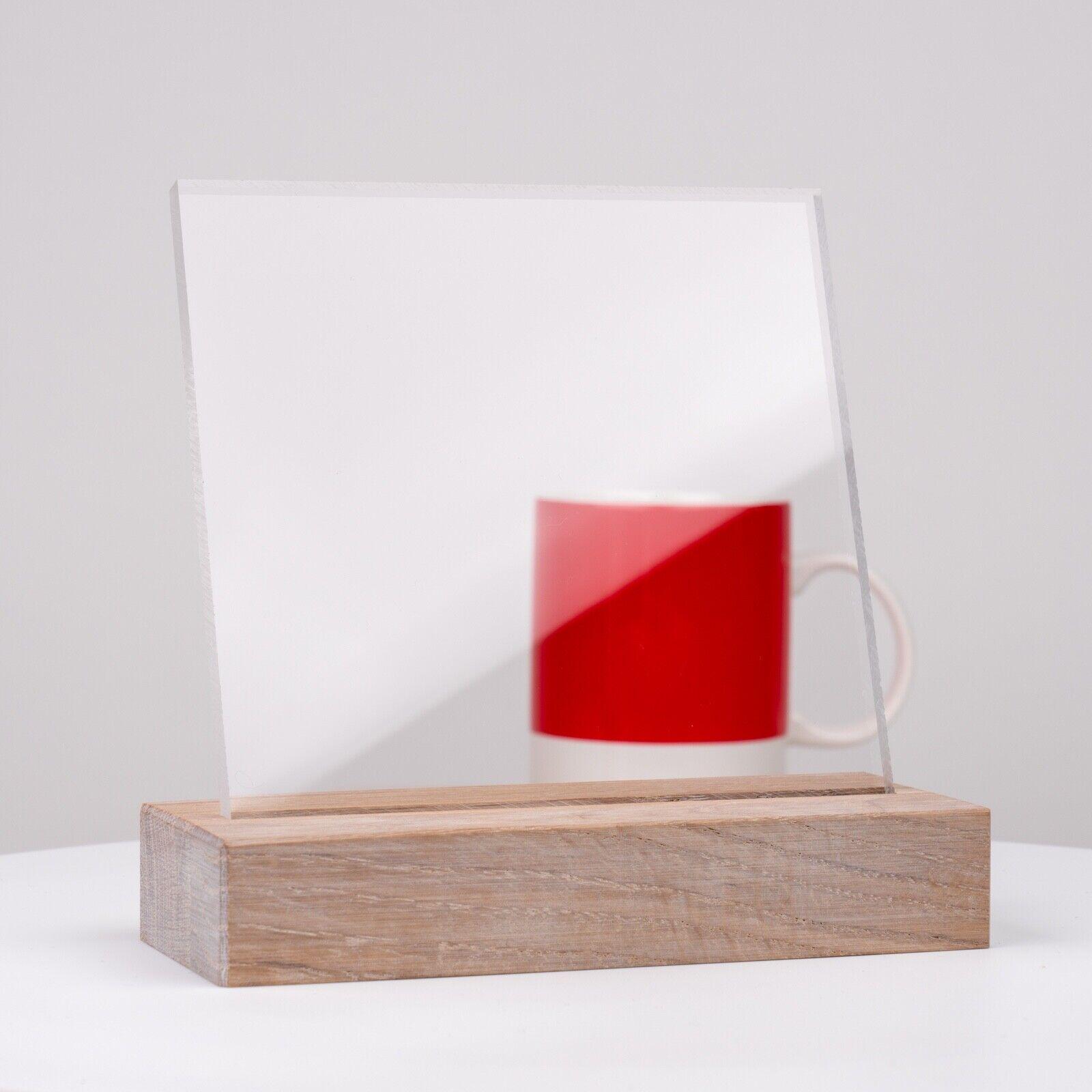 UV-Stabil Kanten unbearbeitet F/ür Innen und Au/ßen Zuschnitte  St/ärke 4 mm PMMA   Glasklare Platte in 500 x 500 mm DOLLE Acrylglas XT