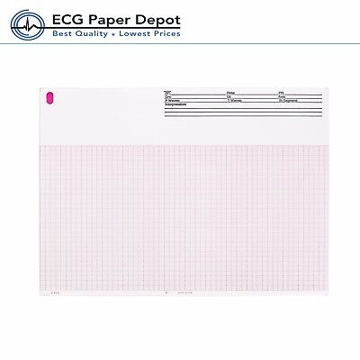 Ecg Ekg Thermal Paper 8.50x11 Burdick 7966 E350 Compatible 1 Pack 200 Sheets
