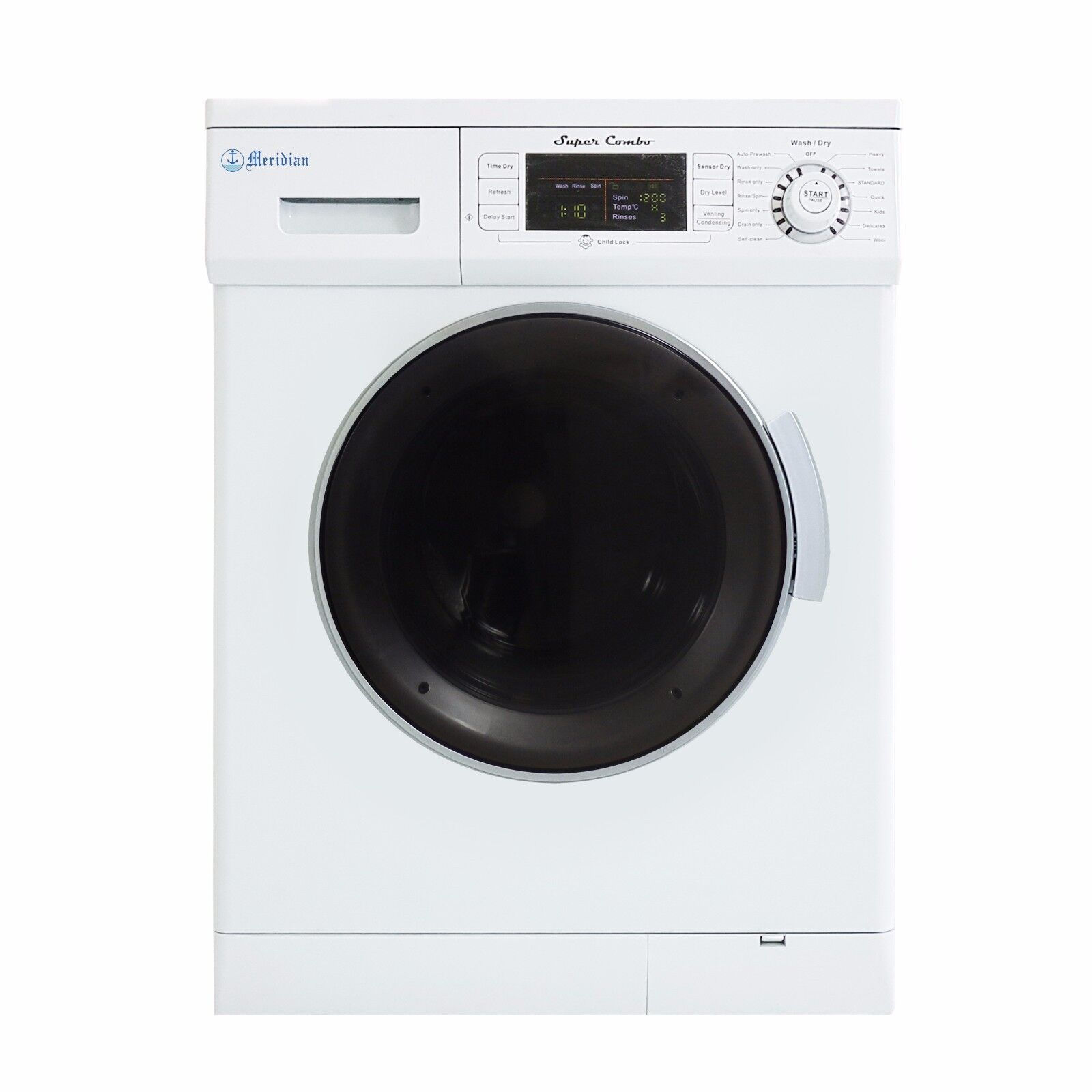 All-in-One 1.6 cu. ft. Consolidated Combo Washer and Electric Dryer with Optional Con