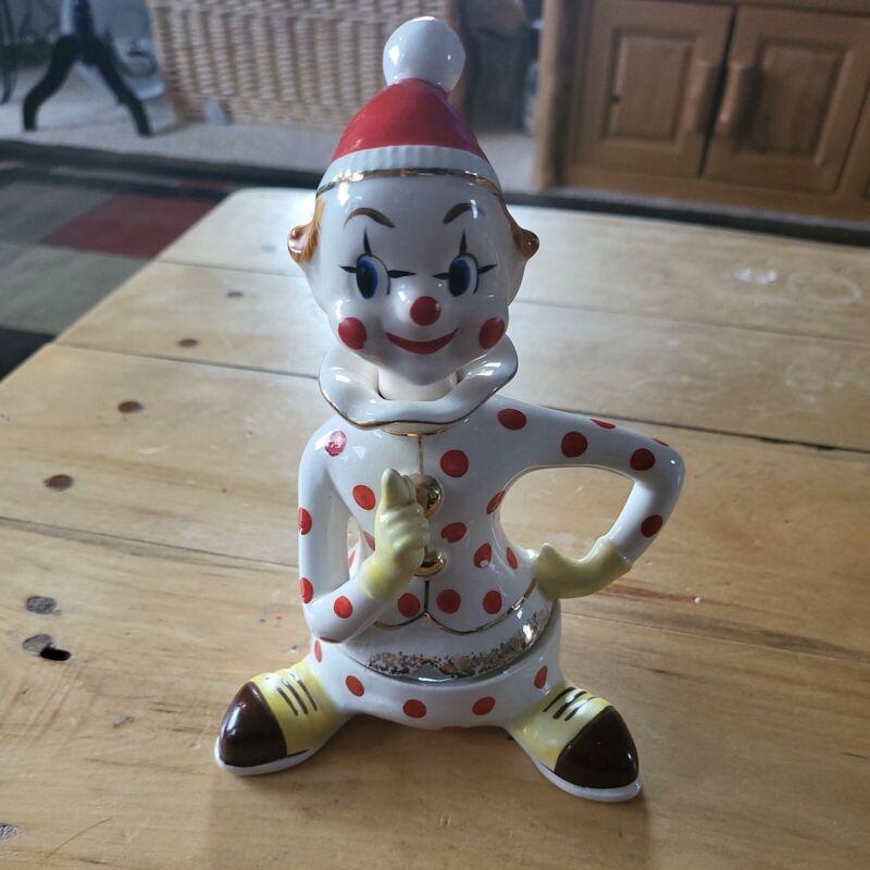 VINTAGE NAPCO  Clown Pixie  Figurine Red Polka Dot JAPAN