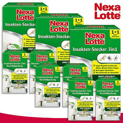 Substral Nexa Lotte 3 X Insekten-Stecker 3in1 +6 Refill Pack