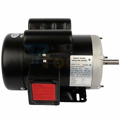 Farm Electric Motor Single Phase 3 Hp 2 Pole 3450 Rpm 56 Frame Tefc 60 Hz Cwccw