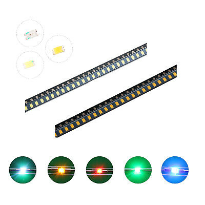 100pcs 5colors 06031008 Smd Smt Led Diodes White Red Blue Mix Kit Lamp Lights