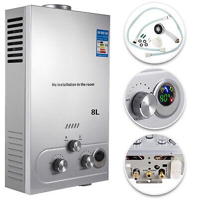 Calentador de agua Instantáneo de Gas Butano Propano para Baño Hogar 8L-GLP 16KW